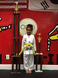 05/16/2015 S. Pavlou TKD Championships  Gabrielle Silver 1st Place Forms  2nd Place Sparring