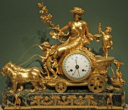French, Clock with Bacchante Riding a Chariot of the Harvest, C.1800, Corcoran Gallery
