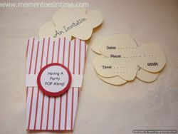 Popcorn Box Invitation