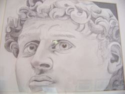 David's head.