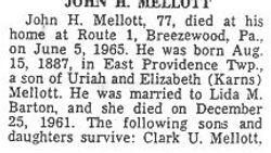 Mellott, John H. - Part 1 - 1965