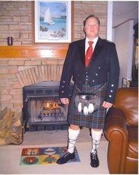 Chip in his Scottish Attire