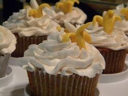 Banana cream cupcake