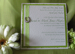 Lime Horseshoes Postcard Invite