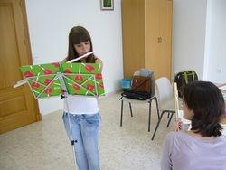 Clase de flauta travesera con Tatiana