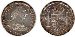 1784-FM Mexico, Charles III, 8 Reales