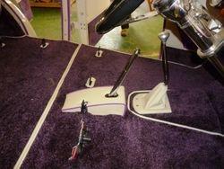 purple carpet bespoke hand brake cover