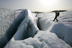 Gletsjerwandeling - opgelet voor de spleten