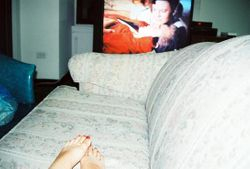 TV and Painted Toenails