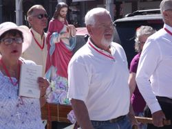 Parishioners in Procession