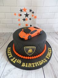 Lamborghini Car Birthday Cake