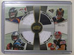 2010 Sam Bradford Rookie Topps Prime 1/1 #8/25 Rare! Tebow Includes Clausen, McCoy and Tebow!! Awesome 4 relic!!!