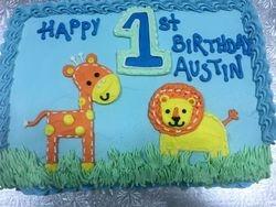 Full slab cake
