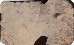 Lizzie Ella Carrington of Brownville, Nemaha Co., NE