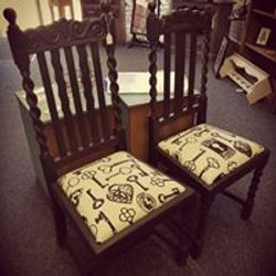 Gothic style chairs.