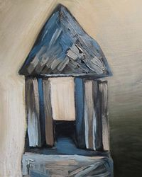 """""""Temple"""" 16 x 14 inches, oil on canvas, $500"""