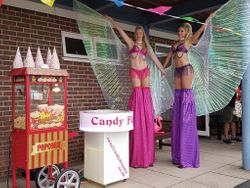 Popcorn and candy floss machine hire.