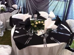 table set up and decoration