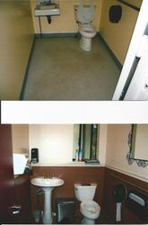 Customer Restroom BEFORE & AFTER.