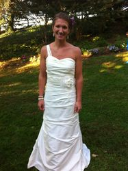Emily's Wedding Dress, Front (On the Day)