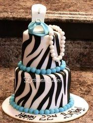 Zebra and Tiffany Cake