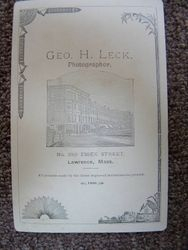 Geo. H. Leck, photographer of Lawrence, MA