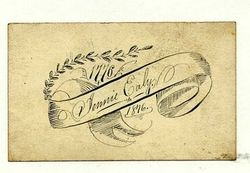 Calling card of Jennie Ealy - 1876