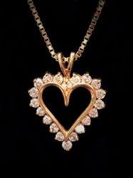 1ct tdw heart pendant in 14k