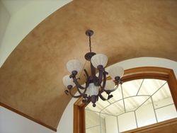 color washed barrel ceiling