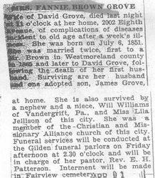 Grove, Fannie Brown 1931