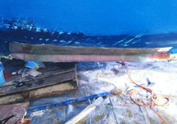 Seining vessel keel repair