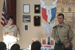 Peter and Sean's Eagle Court of Honor