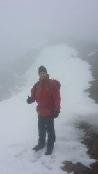 Yr Garn in the snow
