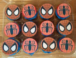 Spiderman themed cupcakes