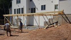 Massive Deck install South Windsor