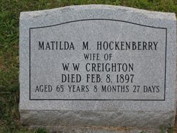 Matilda M. (Hockenberry) Creighton (1831-1897)