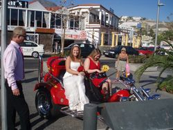 THe bride also arrived in style