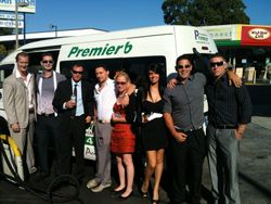 rochelle and crew at races