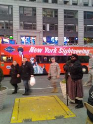Tour bus in Time Square
