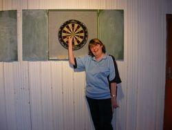 Ladies Singles Winner Christine Haughey