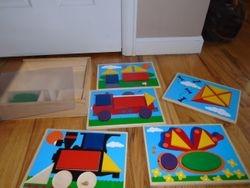 Melissa & Doug Beginner Wooden Pattern Blocks Educational Toy - $10
