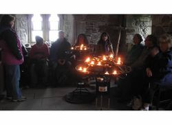 Ceremony in Iona Abbey