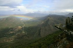 Rainbow at the Grampians