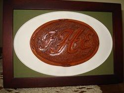 Leather Monogram Medalion