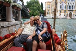 Lynda and Randy on gondola in Venice