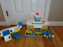 Vintage 1981 Fisher Price Play Family Jetport Airport #933 With Plane - $50