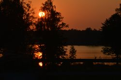 sun down at the Lake Kunhultasjön