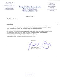 Letter from Congress