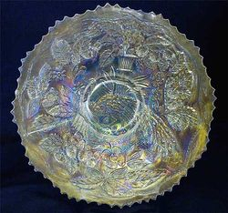 """Peacock and Urn 9"""" plate - white"""