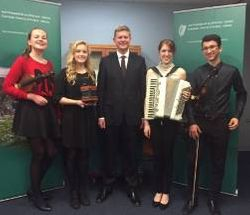 Ciara, Claire, Lauren and Patrick with Mr. Stephans